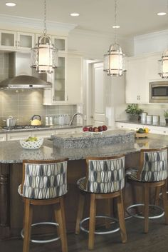 Kitchen designs and decoration thumbnail size kitchen island lighting ideas cozy and inviting contemporary kitchen track Loft Kitchen, Farmhouse Style Kitchen, Apartment Kitchen, Country Kitchen, New Kitchen, Kitchen Decor, Awesome Kitchen, Rustic Pendant Lighting Kitchen, Kitchen Island Lighting Modern