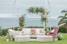 reuse wedding ceremony decor Wedding Ceremony Arch, Wedding Ceremony Decorations, Plum Wedding, Wedding Gowns, Outdoor Furniture Sets, Outdoor Decor, Love Photos, Lounge Areas, Wedding Trends