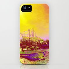 Neon Fishing through Rose Colored Glasses iPhone & iPod Case by Rokin Art by RokinRonda - $35.00