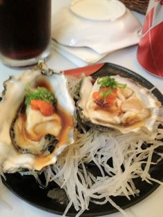 Fresh Oysters with Chili sauce.....@ Sushi Paradise in Kihei, Maui