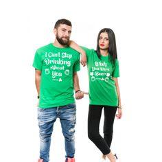 857f1ebbf Couple Drinking Tshirt St. Patrick Drinking Tee Irish Relationship Matching  Drinking Shirt