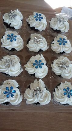 blingy wedding cupcakes