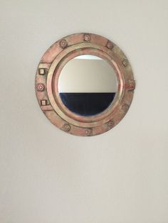 Large Porthole Mirror 20 Diameter Painted by ColorwheelWoodworks