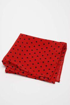 Czerwona poszetka na studniówkę / Red pocket square - DaWanda