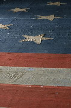 The almost 200 year old Star Spangled Banner by flag) displayed at the Smithsonian National Museum of American History. American Pride, American History, American Flag, I Love America, God Bless America, Star Spangled Banner History, Home Of The Brave, Let Freedom Ring, United We Stand