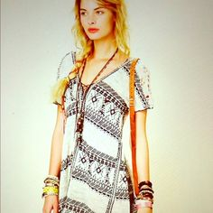 Free People festival blanket tunic Free People festival blanket tunic/dress. So pretty on. Looks amazing with chunky boots and lots of turquoise jewelry. Only worn a few times. Free People Dresses