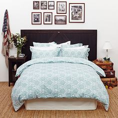 Lexington The Fall Collection City Duvet Cover, Single, Duck Egg Online at johnlewis.com