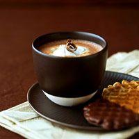 Vanilla bean infused hot chocolate.  Oh my.