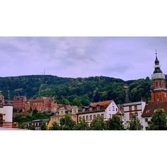 TRAVEL // Heidelberg, Germany Breathtaking views in Heidelberg, Germany. We took a 3-hour boat tour on the Neckar River today. In this fortunate capture, you'll see the famous Heidelberg Castle (Schloss) to the left, the funicular (special mountain railway transit) through the trees