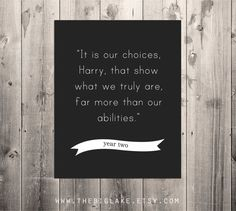 Dumbledore quote - Harry Potter poster - black and white typography - children's books - literature - Hogwarts on Etsy, $10.00