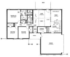 Eplans Ranch House Plan - Three Bedroom Ranch - 1328 Square Feet and 3 Bedrooms from Eplans - House Plan Code HWEPL61886