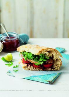 Posh sausage sandwich