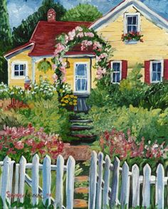 ۩۩ Painting the Town ۩۩ city, town, village & house art - Suzanne Etienne | Suzanne's Cottage