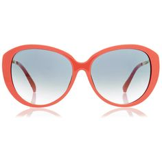 Prabal Gurung Linda Farrow Coral Oversized Rounded Sunglasses ($195) ❤ liked on Polyvore featuring accessories, eyewear, sunglasses, pink, cateye sunglasses, round cateye sunglasses, oversized round glasses, oversized cat eye glasses and rounded sunglasses