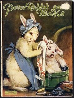 Bunny Rabbits - Children's Book Illustrations Peter Rabbit and His MA 1928 Frances Brundage illustrated by Ernest Aris