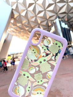 millennial pink Baby Yoda phone case Disney World Iphone Cases Disney, Iphone Phone Cases, Diy Phone Case, Cute Phone Cases, Yoda Images, Star Wars Shoes, Star Wars Baby, Disney Springs, Coque Iphone