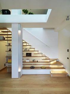 Pasillos, vestíbulos y escaleras de estilo moderno de enzoferrara architetti