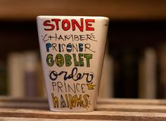 DIY HP mug-maybe draw the Hogwarts crest on another side, or on a t-shirt