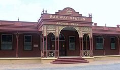 Archer Park Rail Museum is a transport museum in Rockhampton, Queensland, Australia, located at the former heritage-listed Archer Park railway station. The Muse... Get more information about the Archer Park Rail Museum on Hostelman.com #attraction #Australia #museum #travel #destinations #tips #packing #ideas #budget #trips