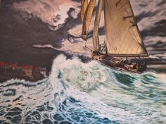 Heading Home to Bay Oil on Canvas size 762mm x 1016mm For Sale £950