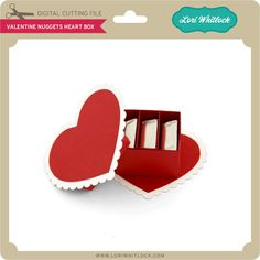Valentine Nuggets Heart Box - Lori Whitlock's SVG Shop