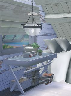 """blackcatphoenix: """" 'Life in the Attic' set Included 6 items: - Maxis Bunker Bather Window opened ver. (15 maxis recolors) polygons: 244 - Maxis Cabin Slats moded ver. polygons: 76 - BCP's Folding..."""