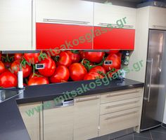 Extraordinary decoration - digital printing on glass - breadth of kitchen