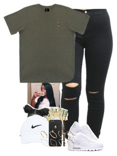 """Neva gotta worry its all good "" by muvaaliyah ❤ liked on Polyvore featuring October's Very Own and ASOS"