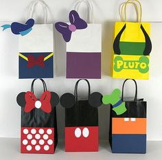 Mickey Mouse Club House party favor bags set of 12 bags.