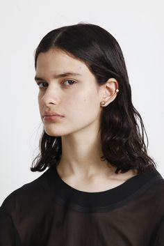 'The Bling Ring' Bar Earrings With Ear Cuff