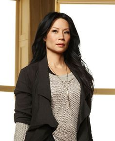 LUCY LIU IN ELEMENTARY IN K/LLER COLLECTION / PORCUPINE QUILL / BRASS QUILL PENDANT