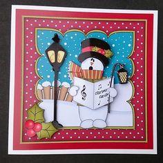 8x8 Christmas Singing Snowman Rio Mini Kit 3D Decoupage on Craftsuprint - View Now!