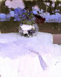 Forget-Me-Nots by Buryatian artist Bato Dugarzhapov Duldurga, Chita Region, Siberia, The Republic of Buryatia, Russia) Art Floral, Great Paintings, Flower Paintings, Still Life Art, Russian Art, Museum Of Fine Arts, Abstract Landscape, Art Oil, Oeuvre D'art
