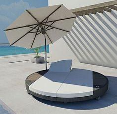 Designer Gartenliege martinique outdoor daybed zuo modern luxury outdoor patio