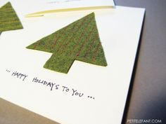 Learn how-to make a DIY Christmas tree card with this how-to from craft blogger Stephanie. The how-to is so simple, you'll love how easy note cards can be.