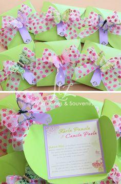 Invitaciones para celebrar 15 Primaveras de una princesa!! Neon, colores y mariposas!