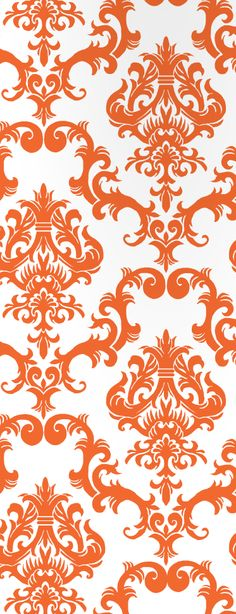 orange wallpaper #ornate #vintage