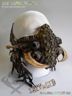 Post Apocalypse mask - LARP costume. SALVAGED Ware enquiries welcome @ www.markcordory.com
