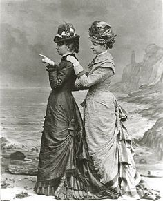Miss Brierly and another lady, photo Elliott & Fry. Britain, 1878.