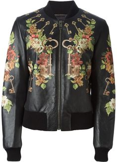 Dolce & Gabbana floral keys print bomber jacket on shopstyle.co.uk