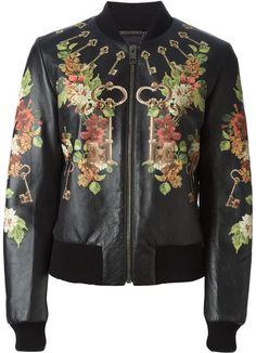 Dolce & Gabbana floral keys print bomber jacket on shopstyle.co.uk