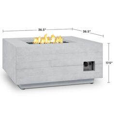 Cast from a high performance, lightweight fiber-concrete that is tinted to the finish color for increased outdoor durability. The fire tables come complete with lava rock filler and a matching lid for when the burner is not in use. The Baltic Collection carries a CSA Certification and features an electronic ignition. Concrete material color will be accurate, but actual finish will vary from photo.