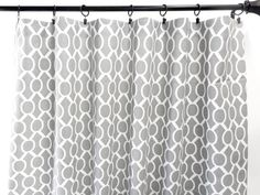 Gray Curtains. Sydney Ash gray. 2 Panel Curtains. Drapes. Window Treatment. Cotton.unlined.Designers. Choose size