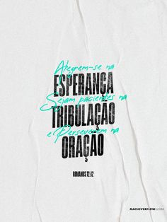 """Alegrem-se na esperança, sejam pacientes na tribulação e perseverem na oração."" - ‭‭Romanos‬ ‭12:12‬ ‭ Church Graphic Design, Church Design, Graphic Design Layouts, Bible Quotes, Bible Verses, Jesus Wallpaper, Jesus Freak, Instagram Blog, Jesus Saves"