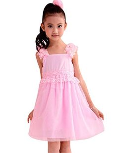 Jeansian Girl Kid Wedding Cute Party Dress Shirt Top Pink 130 *** Check out this great product.