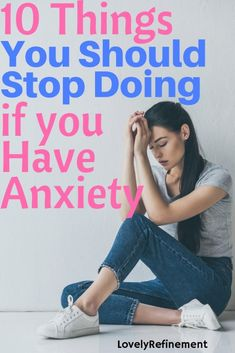 Are you doing any of these things that could be making your anxiety worse? Here's what you should stop doing if you want to reduce your anxiety levels. Get Rid Of Anxiety, Deal With Anxiety, Anxiety Tips, Anxiety Help, Social Anxiety, Stress And Anxiety, Calming Anxiety, Anxiety Quotes, Overcoming Anxiety