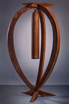 Nucleus Is A Sound Sculpture By Kevin Caron Whose Love Of Sound As Well As Flowing Line And Segmented Forms Led To The Design Of This Bell Which Has Its