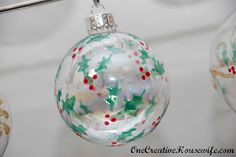 One Creative Housewife: DIY Christmas Ornaments