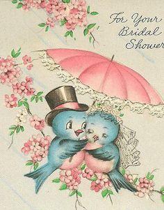 Bridal Shower card ~ Bluebirds