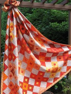 Paprika Quilt Pattern...hot colors!